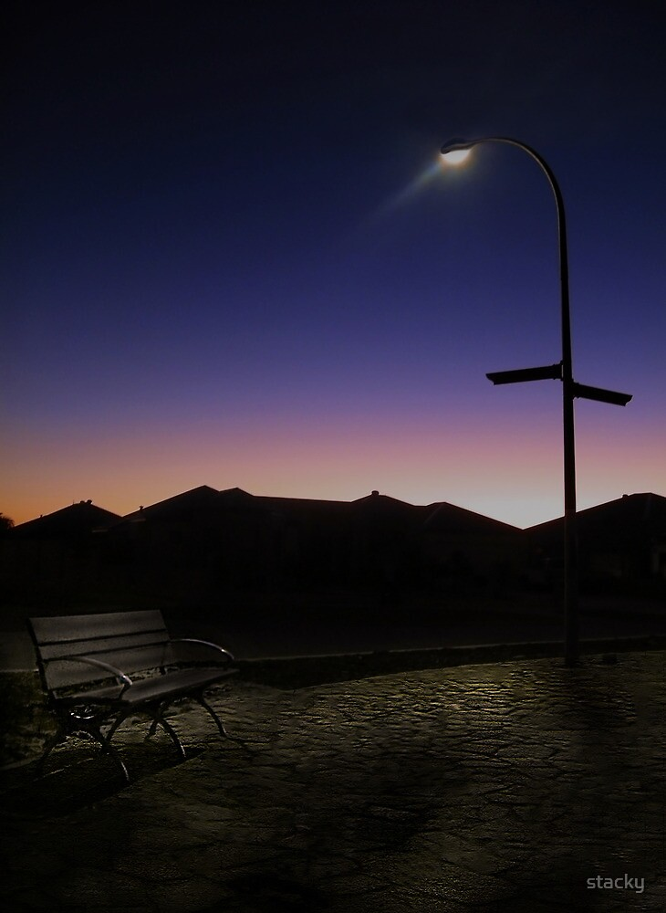 Lone bench by Stacey Pritchard