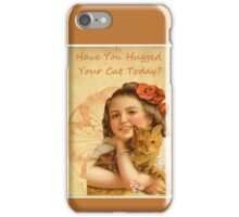 Victorian Girl Cat Love Hug iPhone Case/Skin