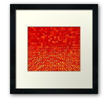 VISION OF THOUGHT ABSTRACT [1] ORANGE [1] Framed Print