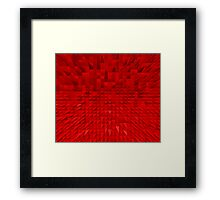 VISION OF THOUGHT ABSTRACT [1] RED [1] Framed Print