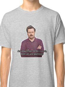 Ron Swanson Hates Cats Classic T-Shirt