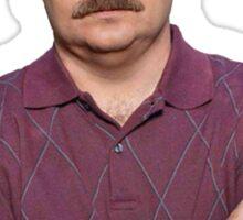 Ron Swanson Hates Cats Sticker