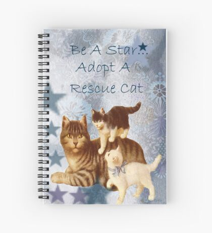 Adopt Rescue Humane Cat Spiral Notebook