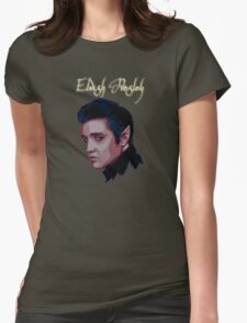 Elvish Presley    With Title Womens Fitted T-Shirt