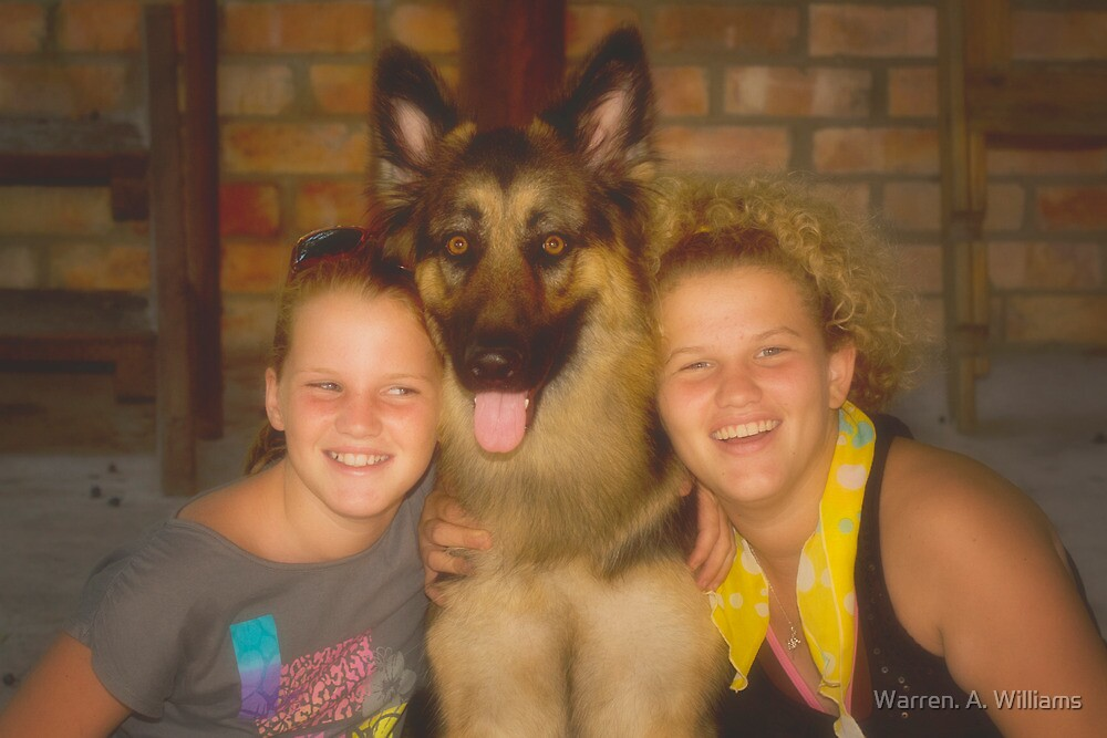 Tammy, Shadow & Cheri by Warren. A. Williams