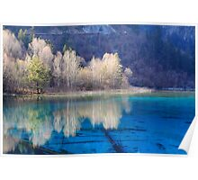 Five Flower Lake, Jiuzhaigou Valley, Sichuan, China Poster