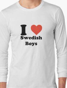 I love (heart) Swedish Boys Long Sleeve T-Shirt