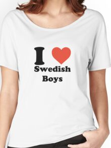 I love (heart) Swedish Boys Women's Relaxed Fit T-Shirt