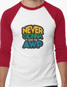 Counter-Strike: Never gonna give you AWP Men's Baseball ¾ T-Shirt