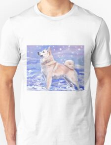 Norwegian Buhund Fine Art Painting Unisex T-Shirt