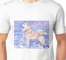 Norwegian Buhund Fine Art Painting Unisex T-Shirt