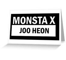 MONSTA X JOO HEON Greeting Card
