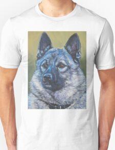 Norwegian Elkhound Fine Art Painting Unisex T-Shirt
