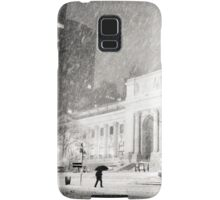 Winter Night in the Snow - New York City Samsung Galaxy Case/Skin