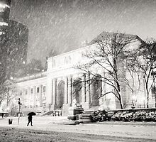 Winter Night in the Snow - New York City by Vivienne Gucwa
