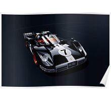 Ferrari 512 S black Poster
