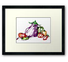 SolanaceaeScribble Framed Print