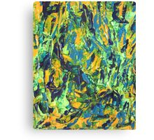 Abstract Green & Yellow Painting  Canvas Print