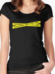 Photographer Line Do Not Cross Women's Fitted Scoop T-Shirt