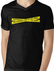 Photographer Line Do Not Cross Mens V-Neck T-Shirt