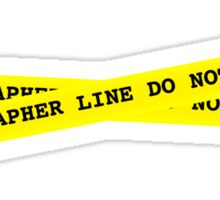 Photographer Line Do Not Cross Sticker