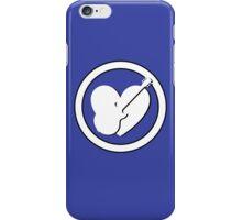White Guitar & heart iPhone Case/Skin