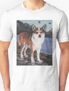 Norwegian Lundehund Fine Art Painting Unisex T-Shirt
