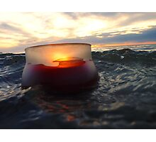 Candle In The Stormy Sea Photographic Print