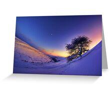 Gunnerside Gill under snow Greeting Card