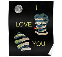 I  LOVE  YOU two heads Poster