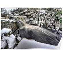 Frozen waterfall, Keld Poster