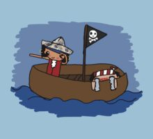Cute Pirates in a Boat. by qtee