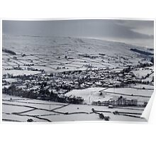 Reeth in the snow Poster