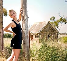 City Girl in a Country Town #2 by Mark Elshout