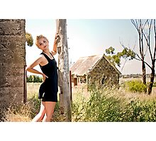 City Girl in a Country Town #2 Photographic Print