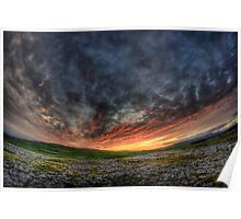 Sunset near Malham Poster