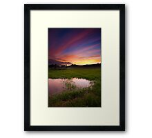 Streaks of clouds Framed Print
