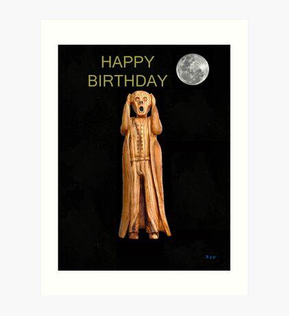 Happy Birthday Scream Art Print