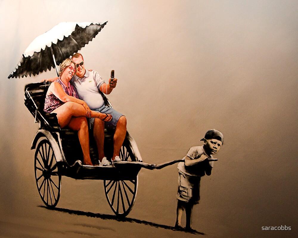 Banksy - Tourist by saracobbs