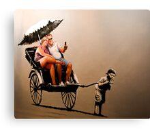 Banksy - Tourist Canvas Print