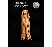 The Scream OH NO I FORGOT Photographic Print