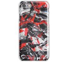 Dramatic Red, Black & White Design  iPhone Case/Skin