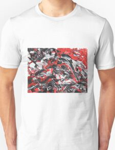 Dramatic Red, Black & White Design  Unisex T-Shirt