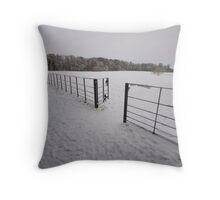Snow Gate - Attingham, Shropshire  Throw Pillow