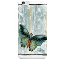 Teal Blue Butterfly iPhone Case/Skin