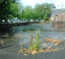 Window Droplets - Manchester by Kris Extance