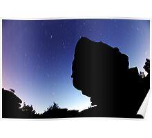 Star Trails at Brimham Rocks Poster