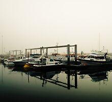 Kopavogur Marina in fog by Ólafur Már Sigurðsson