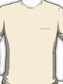 Plain Designer Label Tee. T-Shirt
