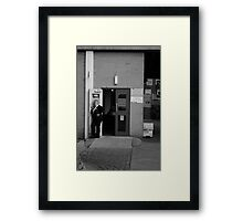 The Shouting Woman - Owens Park, Manchester Framed Print